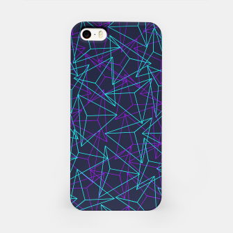 Miniature de image de Abstract Geometric 3D Triangle Pattern in  turquoise/ purple  iPhone Case, Live Heroes