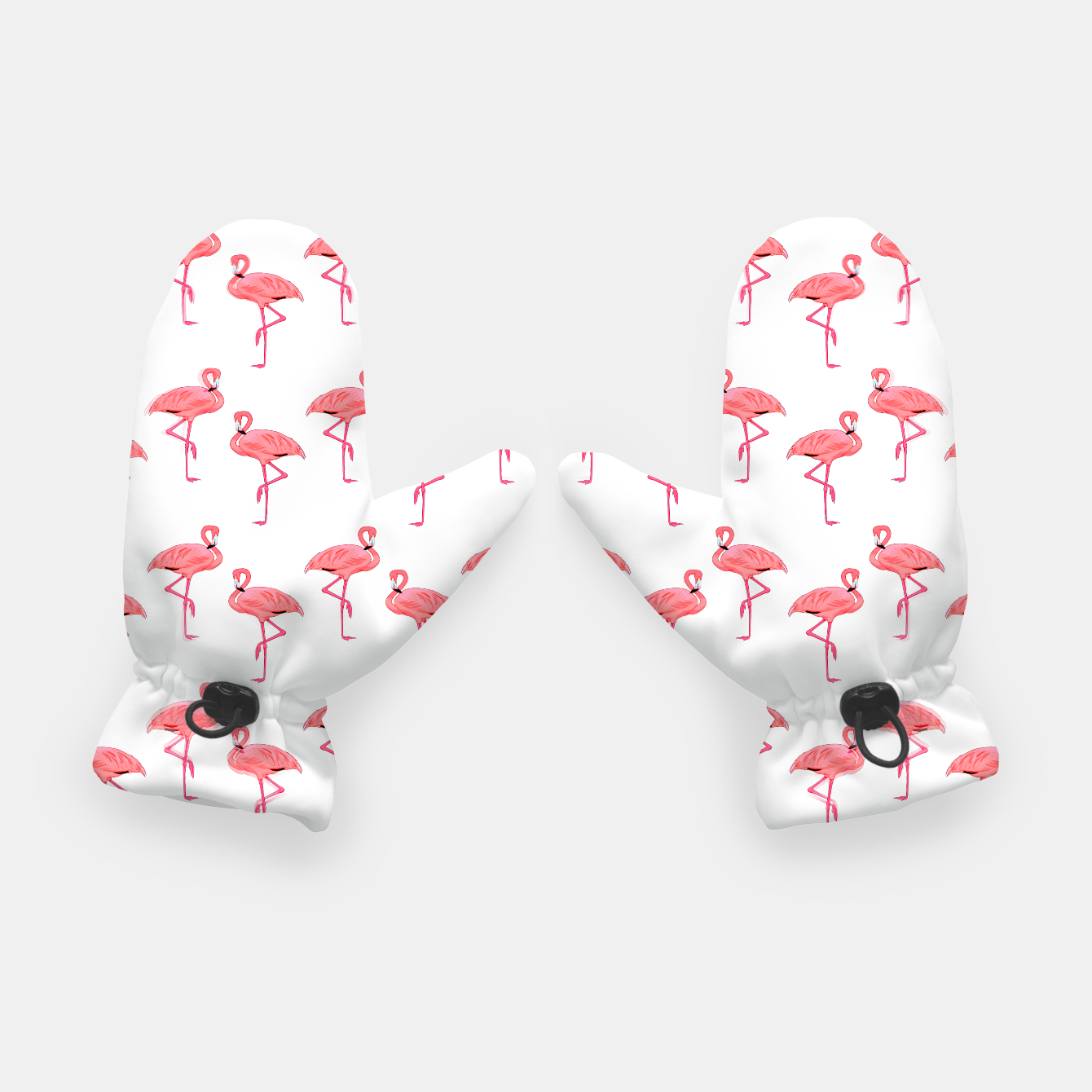 Image of Classic Pink Flamingo Pattern Gloves - Live Heroes