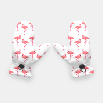 Classic Pink Flamingo Pattern Gloves thumbnail image