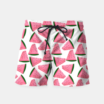Thumbnail image of Fruity Summer PinkW atermelon Print Swim Shorts, Live Heroes