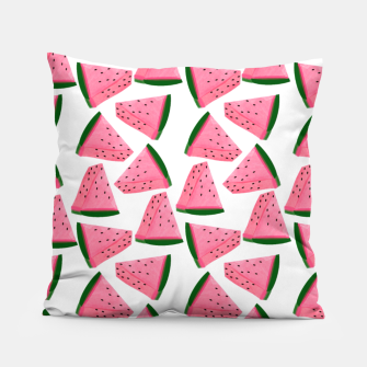 Thumbnail image of Fruity Summer PinkW atermelon Print Pillow, Live Heroes