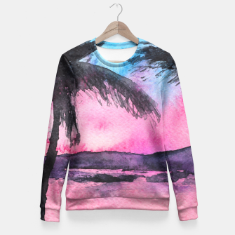 Thumbnail image of Tropical sunset Fitted Waist Sweater, Live Heroes