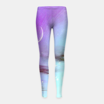 Pastel moon  Girl's Leggings thumbnail image