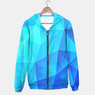 Miniatur Abstract Polygon Multi Color Cubizm Painting in ice blue Hoodie, Live Heroes