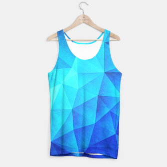 Miniature de image de Abstract Polygon Multi Color Cubizm Painting in ice blue Tank Top, Live Heroes