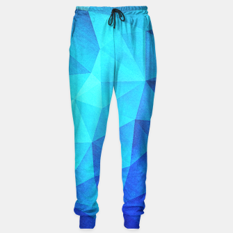 Miniature de image de Abstract Polygon Multi Color Cubizm Painting in ice blue Sweatpants, Live Heroes