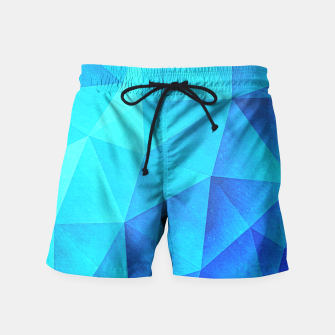 Miniature de image de Abstract Polygon Multi Color Cubizm Painting in ice blue Swim Shorts, Live Heroes