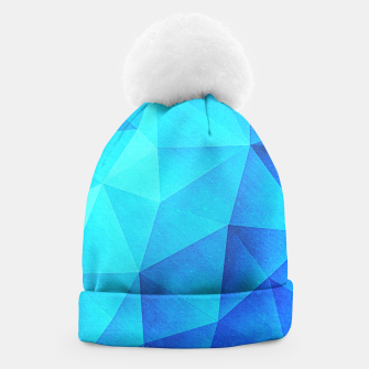 Thumbnail image of Abstract Polygon Multi Color Cubizm Painting in ice blue Beanie, Live Heroes