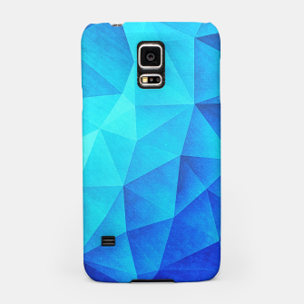 Thumbnail image of Abstract Polygon Multi Color Cubizm Painting in ice blue Samsung Case, Live Heroes
