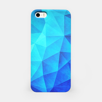 Miniature de image de Abstract Polygon Multi Color Cubizm Painting in ice blue iPhone Case, Live Heroes