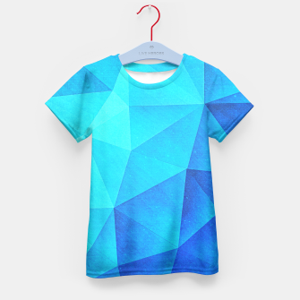 Miniature de image de Abstract Polygon Multi Color Cubizm Painting in ice blue Kid's T-shirt, Live Heroes