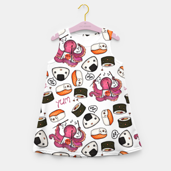 Miniatur Cute sushi Girl's Summer Dress, Live Heroes
