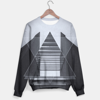 Miniature de image de The Hotel (experimental futuristic architecture photo art in modern black & white) Sweater, Live Heroes