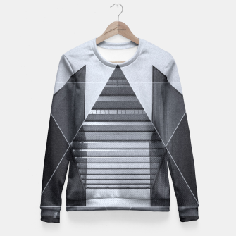 Miniature de image de The Hotel (experimental futuristic architecture photo art in modern black & white) Fitted Waist Sweater, Live Heroes