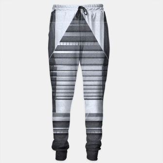 Miniature de image de The Hotel (experimental futuristic architecture photo art in modern black & white) Sweatpants, Live Heroes