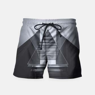 Miniature de image de The Hotel (experimental futuristic architecture photo art in modern black & white) Swim Shorts, Live Heroes