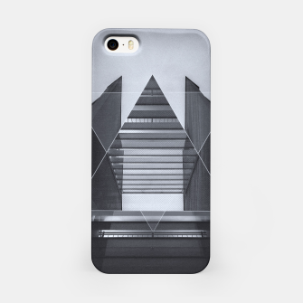 Miniature de image de The Hotel (experimental futuristic architecture photo art in modern black & white) iPhone Case, Live Heroes