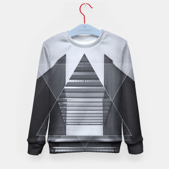 Miniature de image de The Hotel (experimental futuristic architecture photo art in modern black & white) Kid's Sweater, Live Heroes