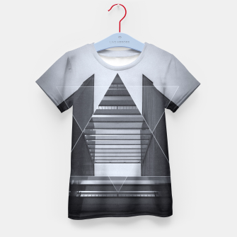 Miniature de image de The Hotel (experimental futuristic architecture photo art in modern black & white) Kid's T-shirt, Live Heroes