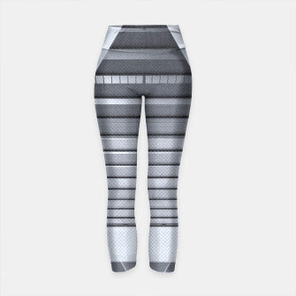 Miniaturka The Hotel (experimental futuristic architecture photo art in modern black & white) Yoga Pants, Live Heroes