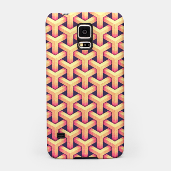 Thumbnail image of Optical illusion - Impossible Pattern -  Gold Grid Pattern Samsung Case, Live Heroes