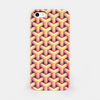 Miniature de image de Optical illusion - Impossible Pattern -  Gold Grid Pattern iPhone Case, Live Heroes