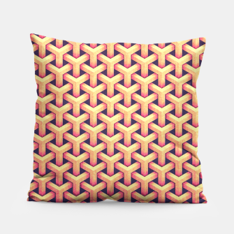 Thumbnail image of Optical illusion - Impossible Pattern -  Gold Grid Pattern Pillow, Live Heroes