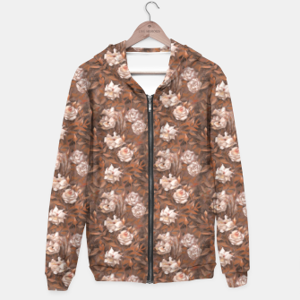 Thumbnail image of White roses, brown scale Hoodie, Live Heroes