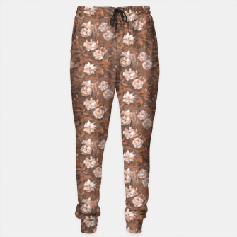 Thumbnail image of White roses, brown scale Sweatpants, Live Heroes