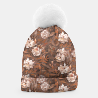 Thumbnail image of White roses, brown scale Beanie, Live Heroes
