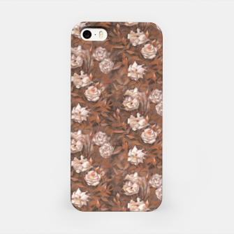 Thumbnail image of White roses, brown scale iPhone Case, Live Heroes