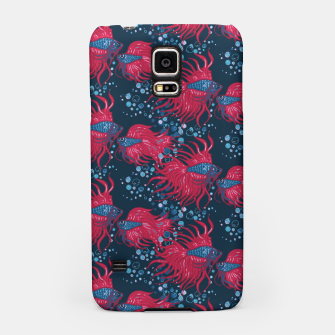 Fighting fish Samsung Case imagen en miniatura