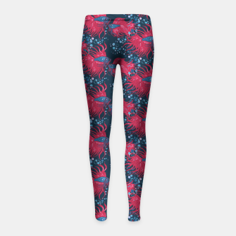 Fighting fish Girl's Leggings imagen en miniatura