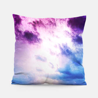 Cloudy shores Pillow thumbnail image