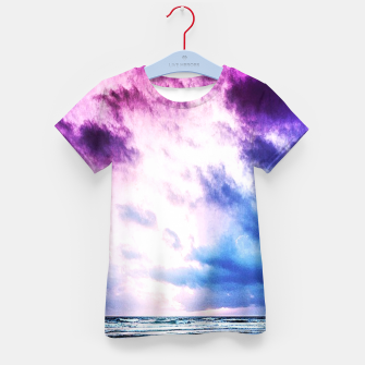 Cloudy shores Kid's T-shirt thumbnail image