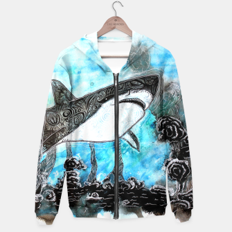 Thumbnail image of Tattooed swimmer Hoodie, Live Heroes