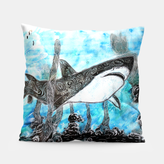 Thumbnail image of Tattooed swimmer Pillow, Live Heroes