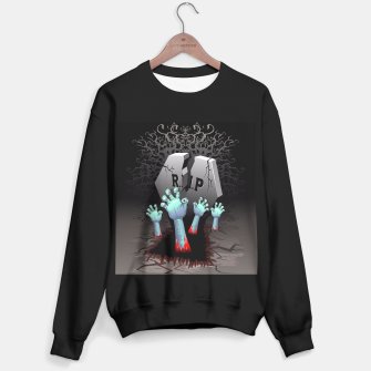 Zombies Bloody Hands on Cemetery Sweater regular thumbnail image