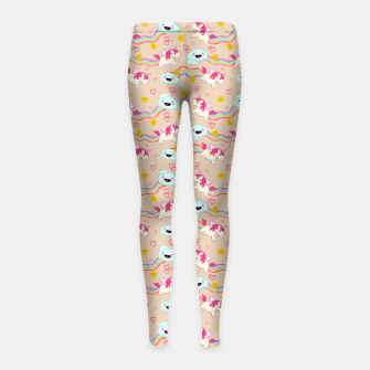 Miniature de image de Unicorns Girl's Leggings, Live Heroes
