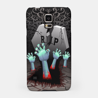 Miniatur Zombies Bloody Hands on Cemetery Samsung Case, Live Heroes