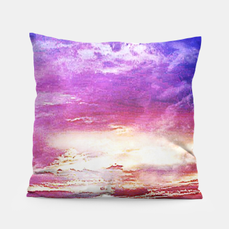 Thumbnail image of Sunset skies Pillow, Live Heroes