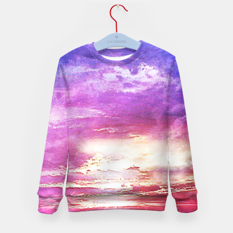 Thumbnail image of Sunset skies Kid's Sweater, Live Heroes
