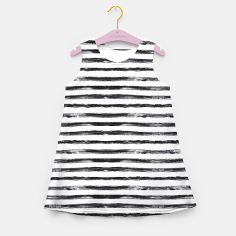Miniaturka Grungy stripes Girl's Summer Dress, Live Heroes
