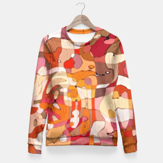 Thumbnail image of Autumn Colors Abstract Painting  Fitted Waist Sweater, Live Heroes