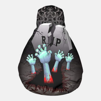 Thumbnail image of Zombies Bloody Hands on Cemetery Pouf, Live Heroes