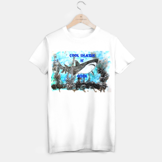 Thumbnail image of Cool shark is cool T-shirt regular, Live Heroes