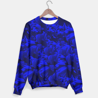 A202 Rich Blue and Black Abstract Design Sweater thumbnail image
