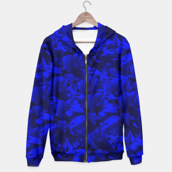 A202 Rich Blue and Black Abstract Design Hoodie thumbnail image