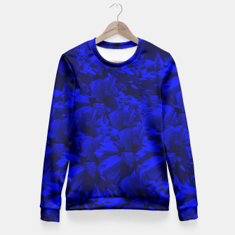 A202 Rich Blue and Black Abstract Design Fitted Waist Sweater thumbnail image