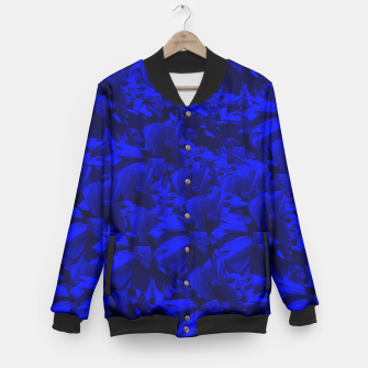 A202 Rich Blue and Black Abstract Design Baseball Jacket thumbnail image